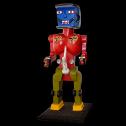 Robot red with blue head -...