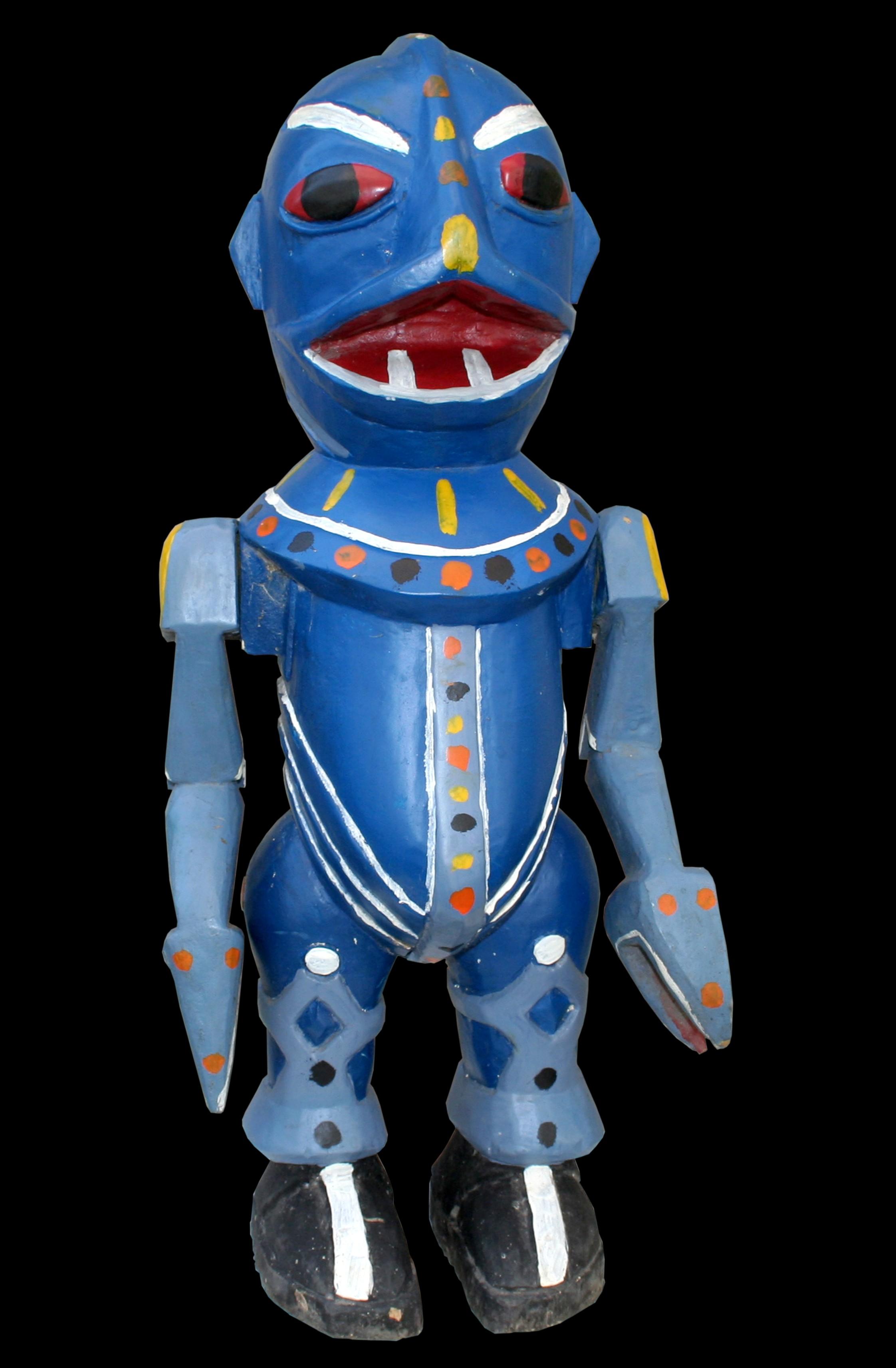 Blue - Sculpture polychrome - Camara Demba - 2008