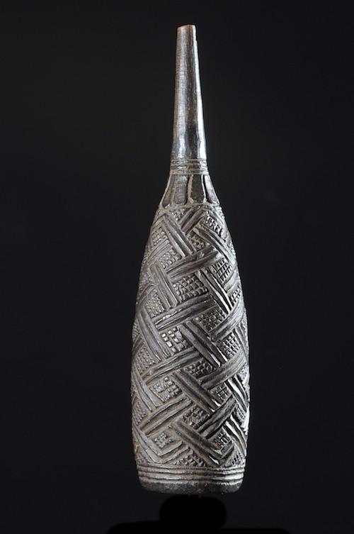 Clystère rituel en bois - Kuba / Bakuba - RDC Zaire