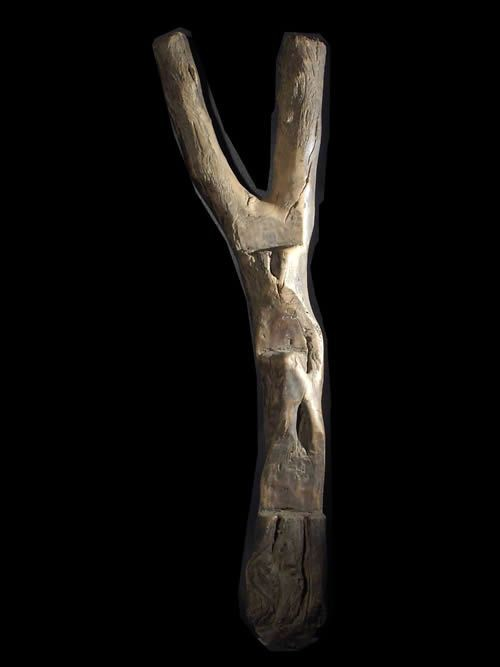 Echelle de grenier a cereales - Dogon / Lobi - Mali - Afrique