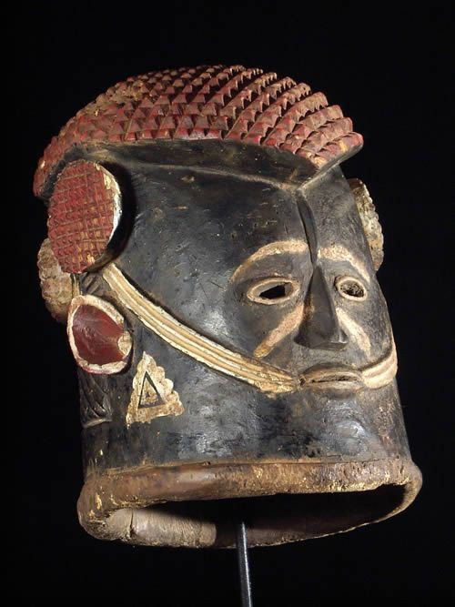 Masque casque royal Agba - Igala - Nigeria - Masques africains