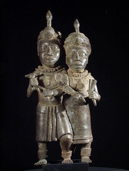 Couple Royal - Bini Edo - Nigeria - Bronzes anciens africains