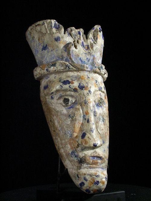 Parement de case polychrome - ijo - Nigeria - Masque africain