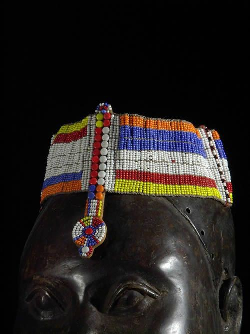 Parure de tete - Ethnie Massai - Kenya - Bijoux africains