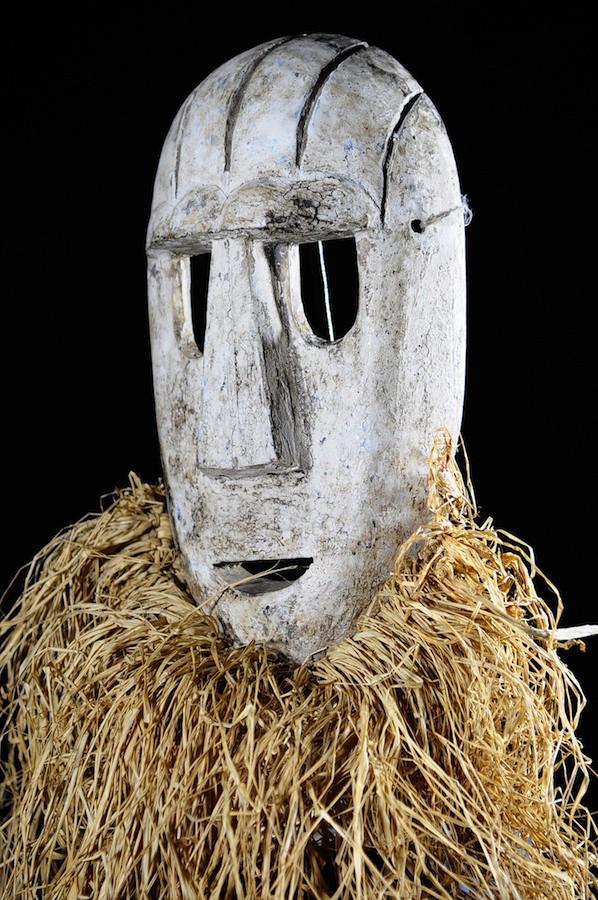 Masque fibres et bois - Konda / Ekonda - RDC Zaire