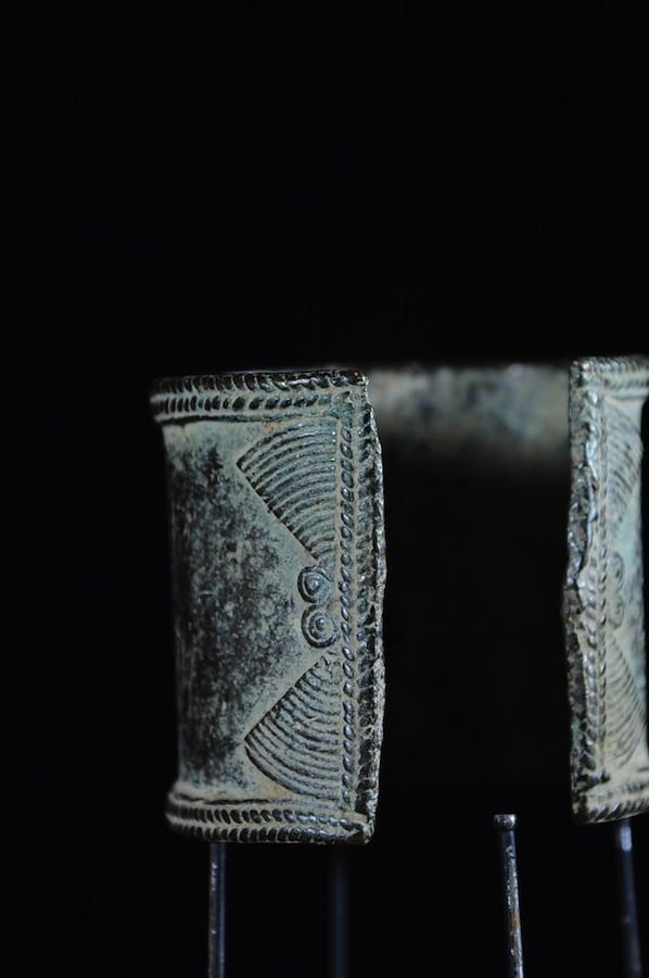 Bracelet monnaie en alliage de cuivre - Marba - Tchad