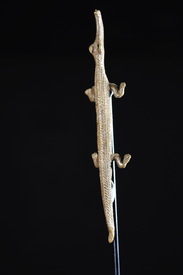 Amulette Jambiere Crocodile - Lobi / Gan - Burkina Faso