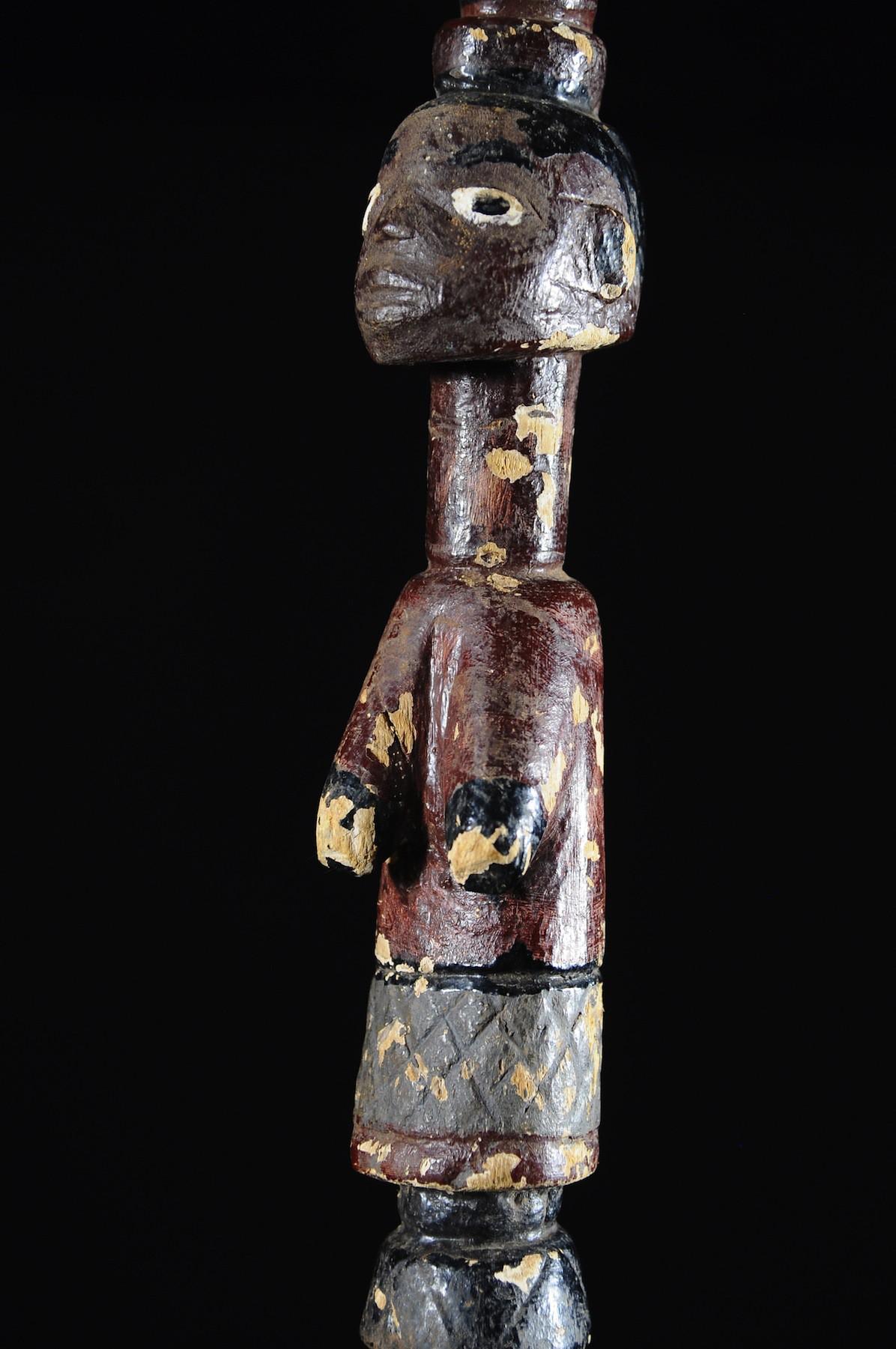 Canne polychrome de fiancailles - Mossi - Burkina Faso - Objets de regalia