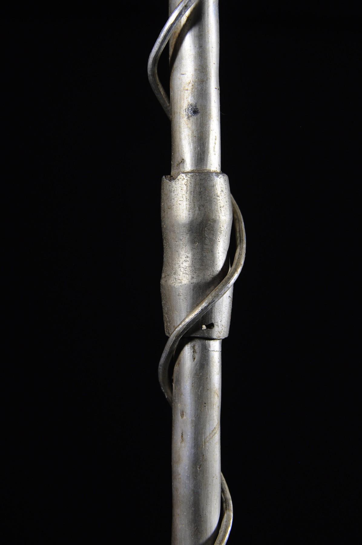 Canne epee de dignitaire en fonte aluminium - Fon - Benin - Objets de regalia