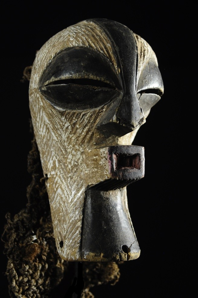 Masque Kifwebe de main - Songye - RDC Zaire