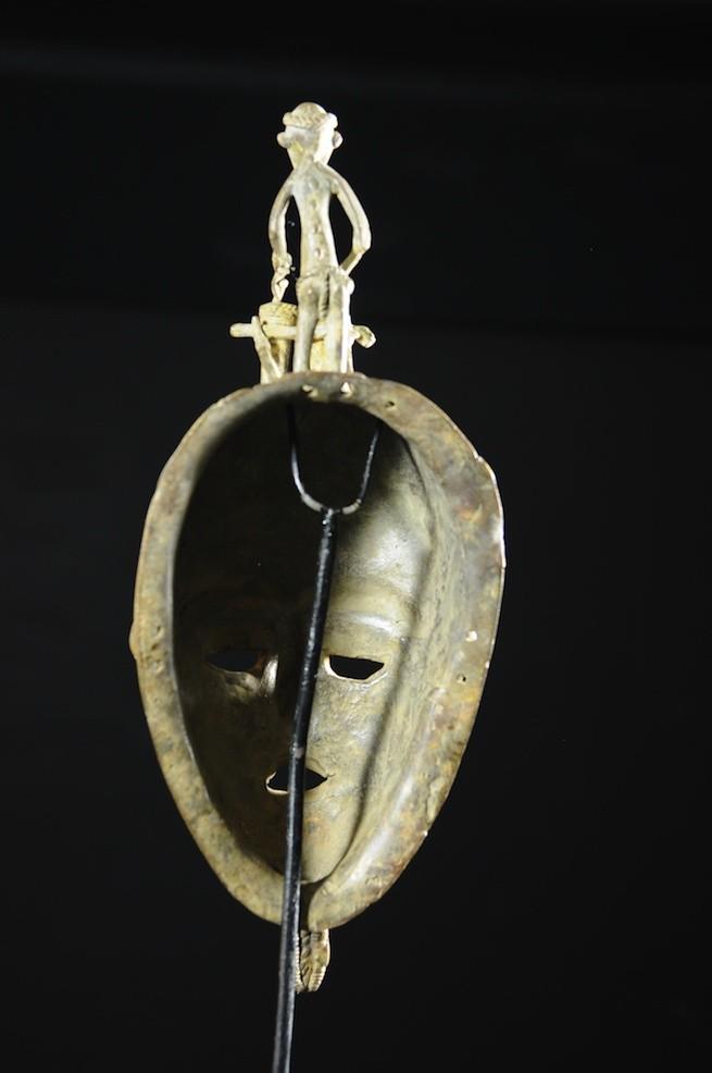 Masque en alliage de metal - Baoule - Cote Ivoire