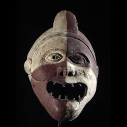 Masque polychrome - Kongo /...