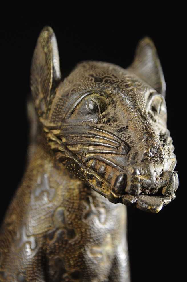 Leopard Royal Aquamanille - Bini Edo - Bronzes du Benin
