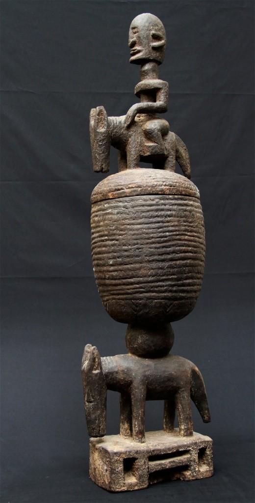 Coupe de Hogon rituelle avec cavalier - Dogon - Mali