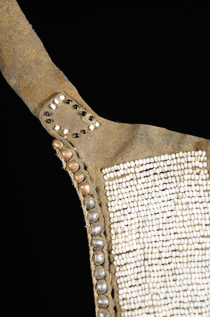 Tablier pagne  en cuir et perles - Toposa - Kenya / Soudan