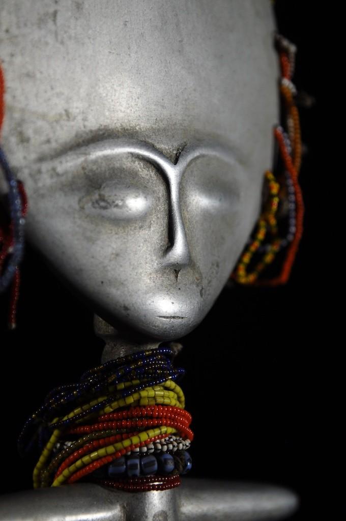 Akua Mma ou Akwaba en aluminium - Ashanti - Ghana - Poupees Africaines