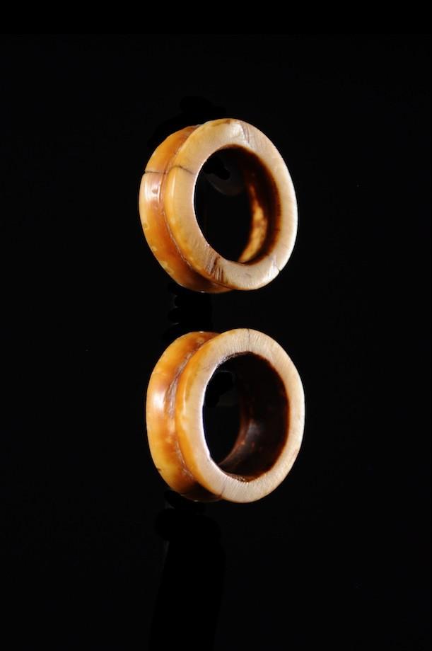 Disques d'oreilles  en os - Massai - Kenya