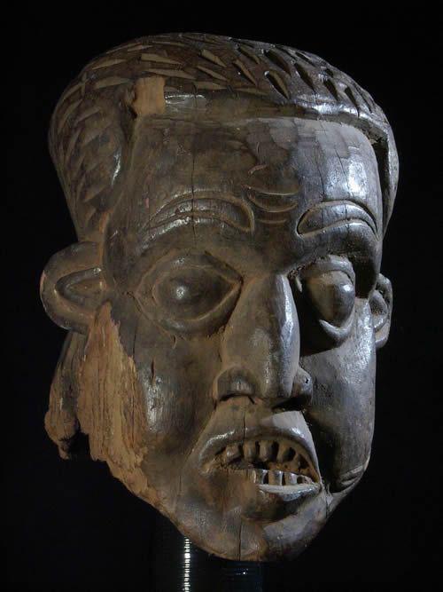 Masque casque Ngoin - Bamoun - Cameroun - Masques africains