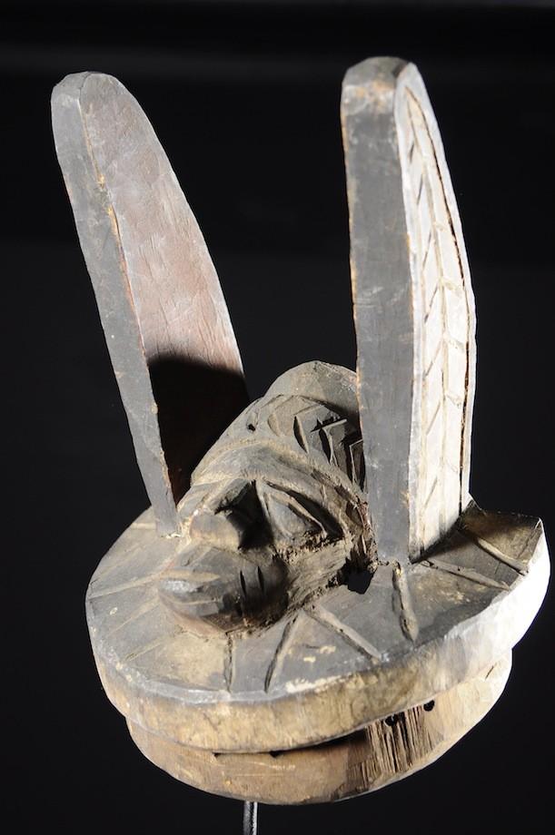 Masque Gelede bois polychrome - Yoruba - Nigeria