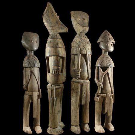 Ensemble de 4 statues du...