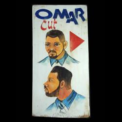 Panneau peint de coiffeur -...