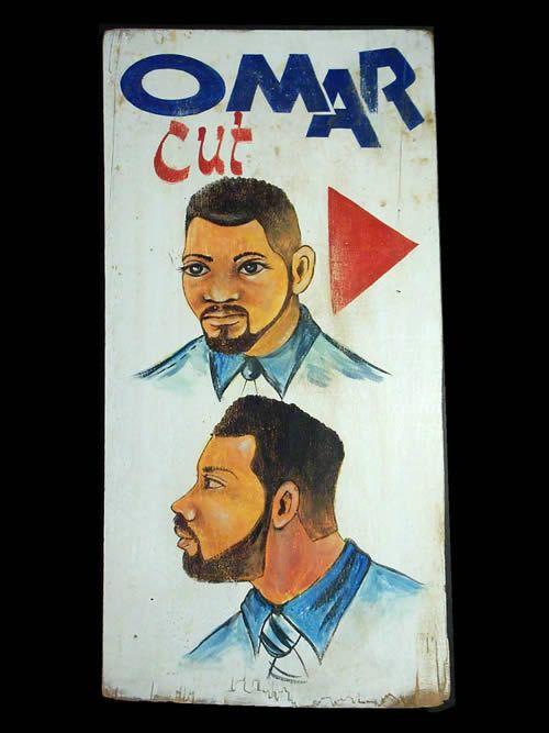 Panneau peint de coiffeur - Lome - Togo - Art populaire