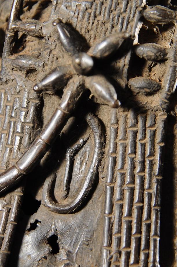 Tete commemorative Oba a ailettes - Bini Edo - Bronzes du Benin