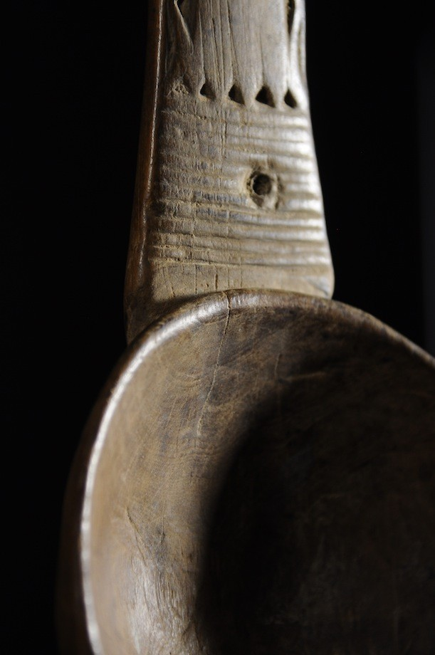 Cuillere ou louche en bois - Ibibio - Nigeria