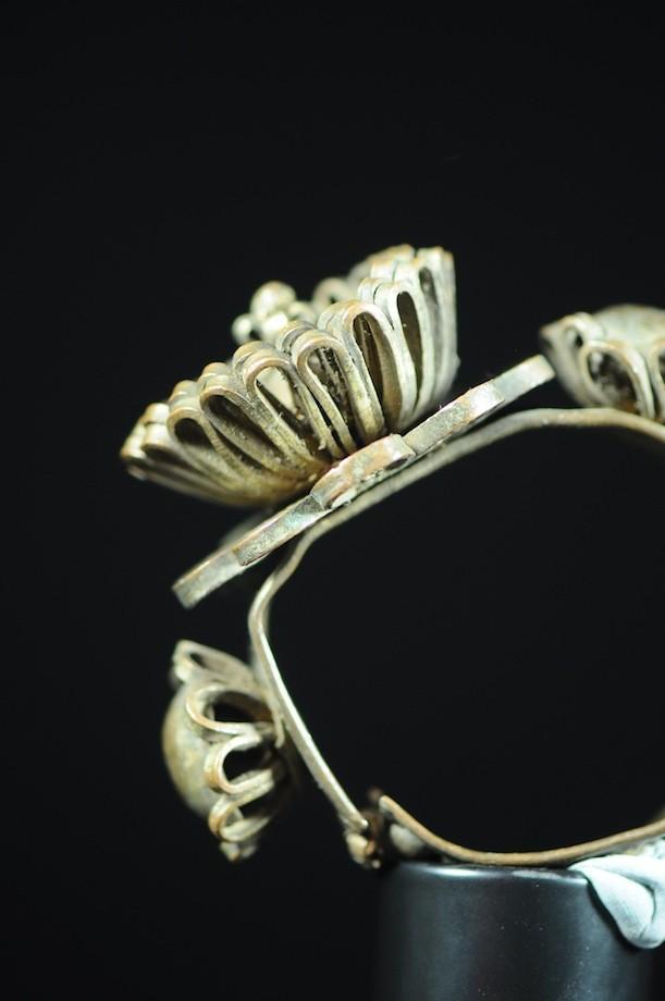 Bracelet en laiton argenté - Peul / Fulani - Mali