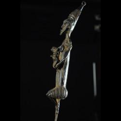 Statuette Edan de la societe Ogboni - Yoruba Nigeria - Bronzes
