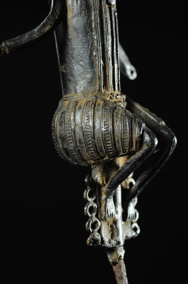 Statuette Edan Maternité de la societe Ogboni - Yoruba Nigeria - Bronzes
