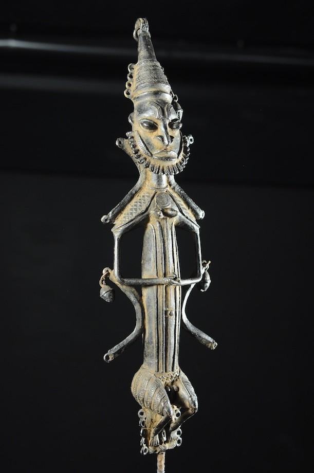 Statuette Edan Masculine de la societe Ogboni - Yoruba Nigeria - Bronzes