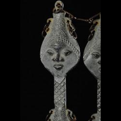 Statuette Edan en paire de la societe Ogboni - Yoruba Nigeria - Bronzes