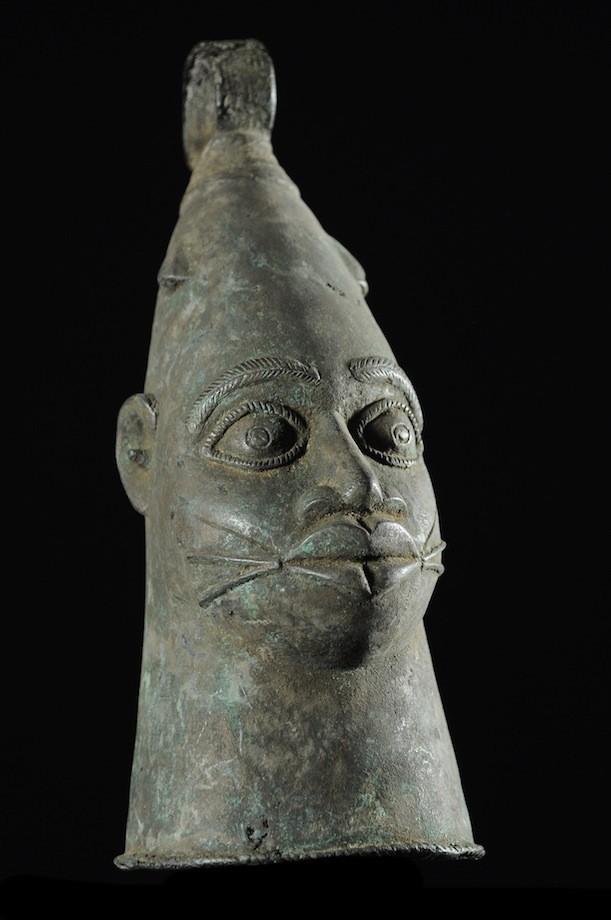 Cloche Gong Ceremonielle - Nigeria - BIni Edo - Bronze cire perdue