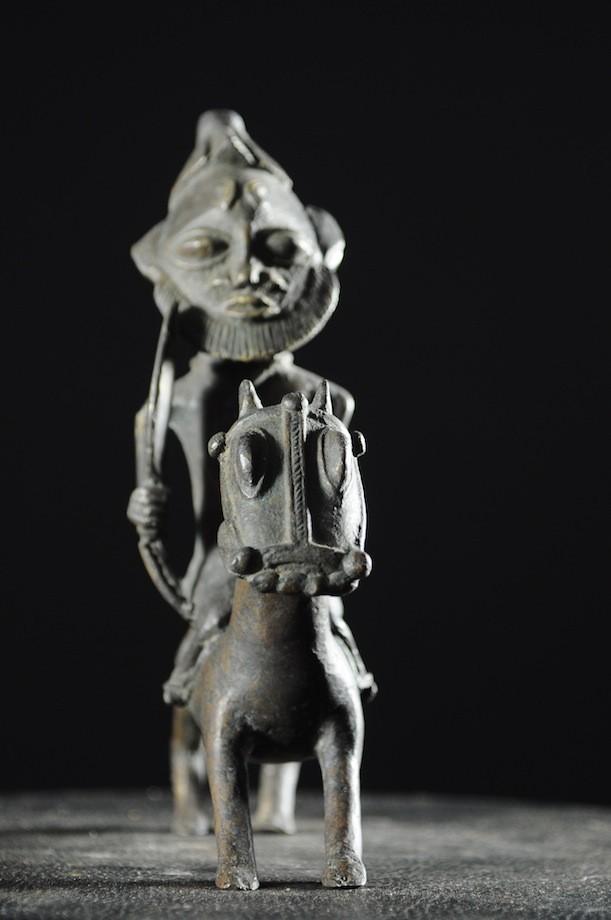 Cavalier en alliage de bronze - Ogoni - Nigéria