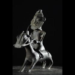 Cavalier en bronze - Nigeria