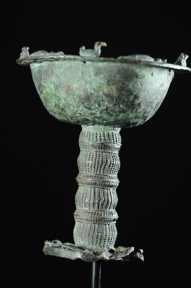 Coupe cérémonielle en bronze - Yoruba - Nigeria / Benin