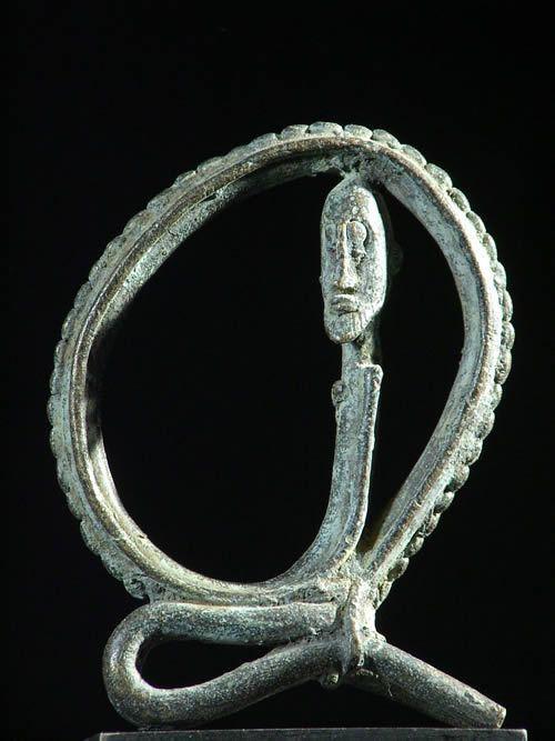 Homme serpent - Dogon - Mali - Bronzes anciens du Mali