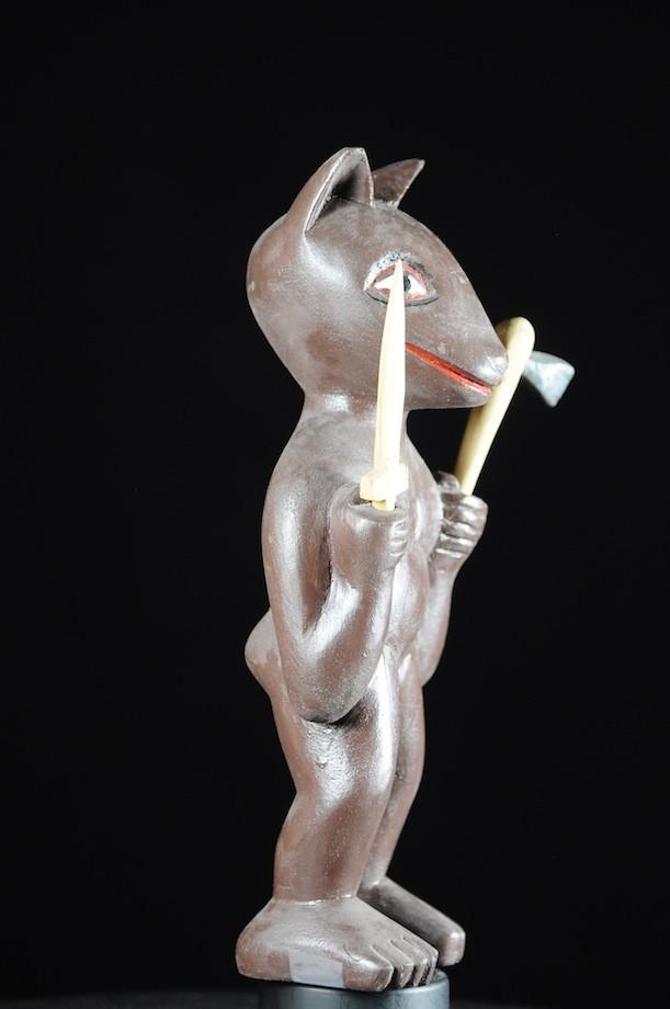 Effigie Lwa Sakpata Vodun polychrome - Togo - Bénin