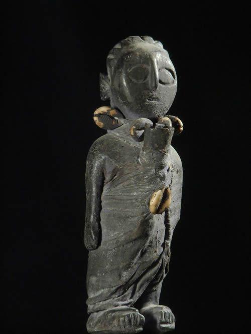 Fetiche cauris et cloche - Ethnie Fon - Benin - Vaudou