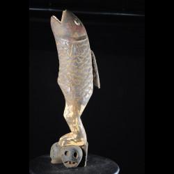 Effigie Lwa Serpent arc en ciel Vodun polychrome  - Togo - Bénin