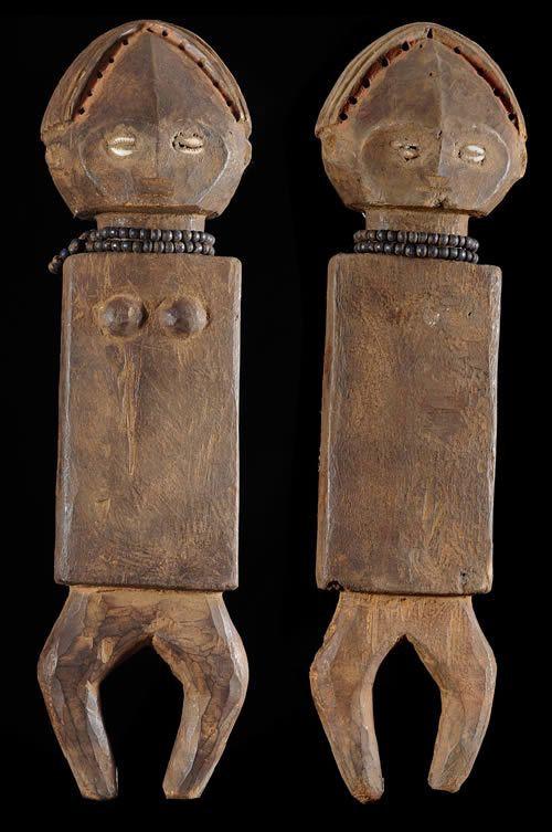 Statues Emblemes la paire - Ngala ou Ngbandi - RDC Zaire