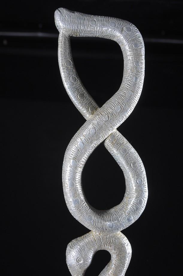 Canne de dignitaire en fonte aluminium - Fon - Benin - Objets de regalia