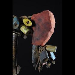 Fetiche Cadenas Crane de chien - Vaudou - Fongbe - Benin