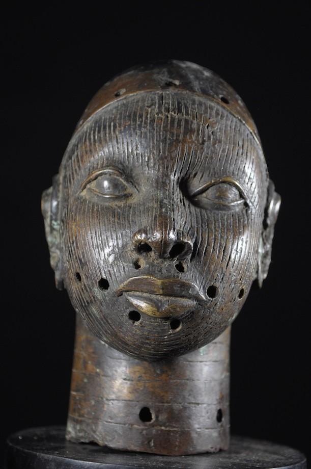 Tete commemorative Oba Bronze Ife - Bini Edo - Nigeria