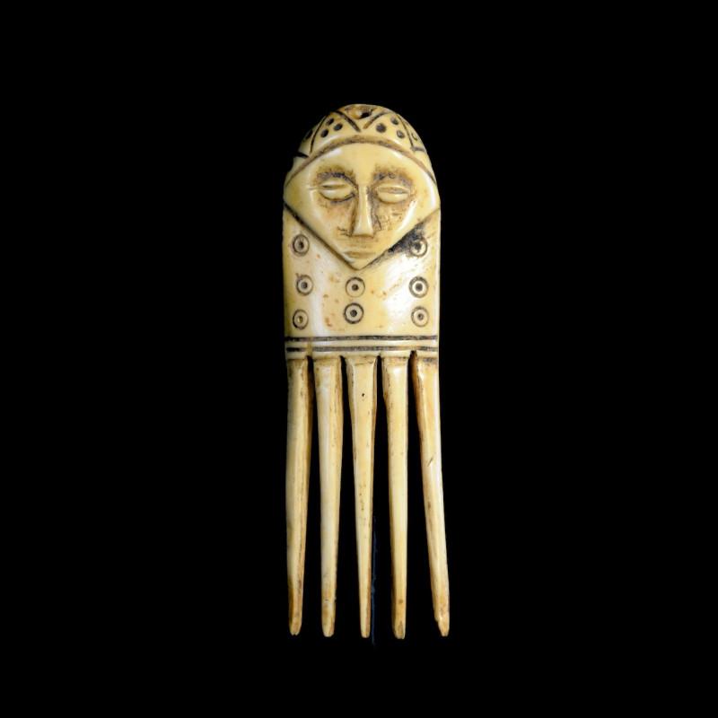 Peigne zoomorphe en Bronze - Gan - Burkina Faso