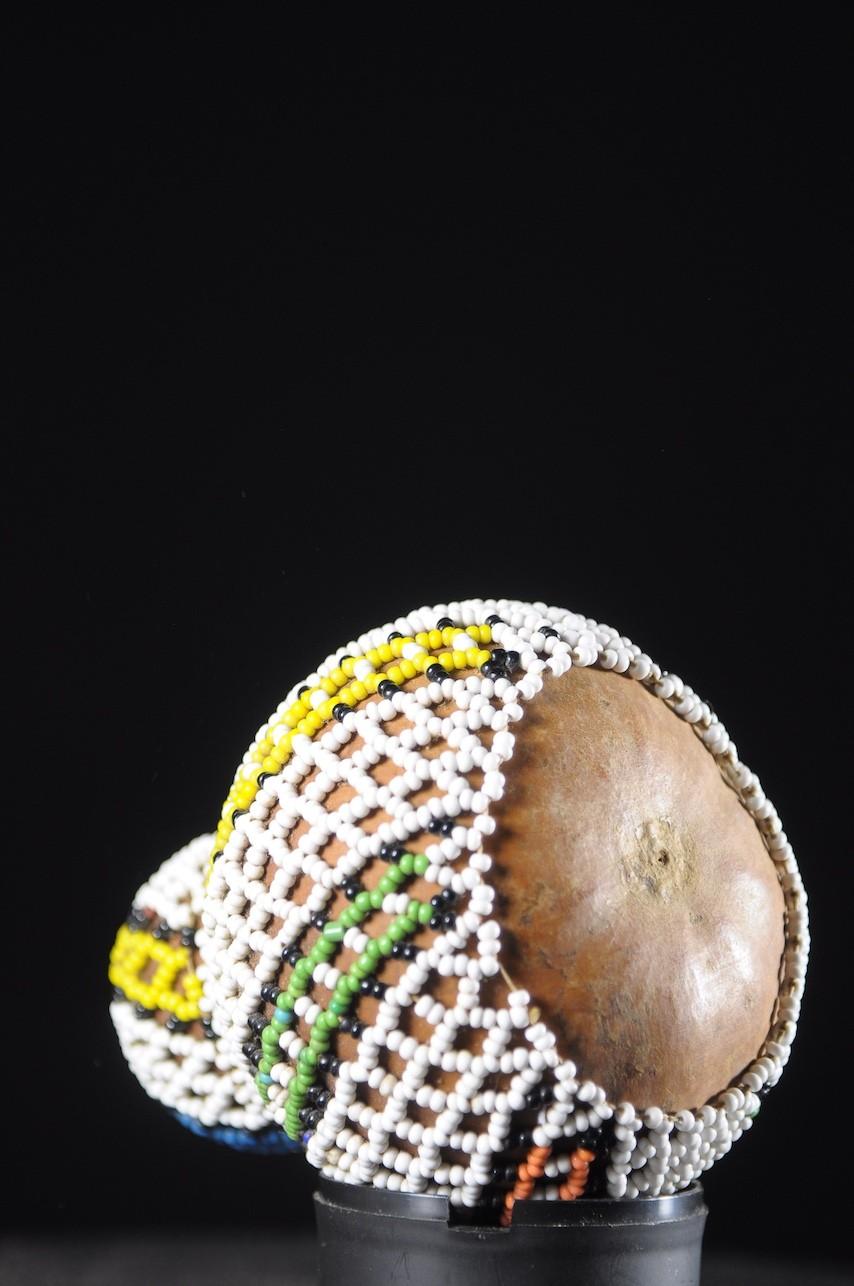 Gourde a graines perlée - Ndebele - Afrique du Sud