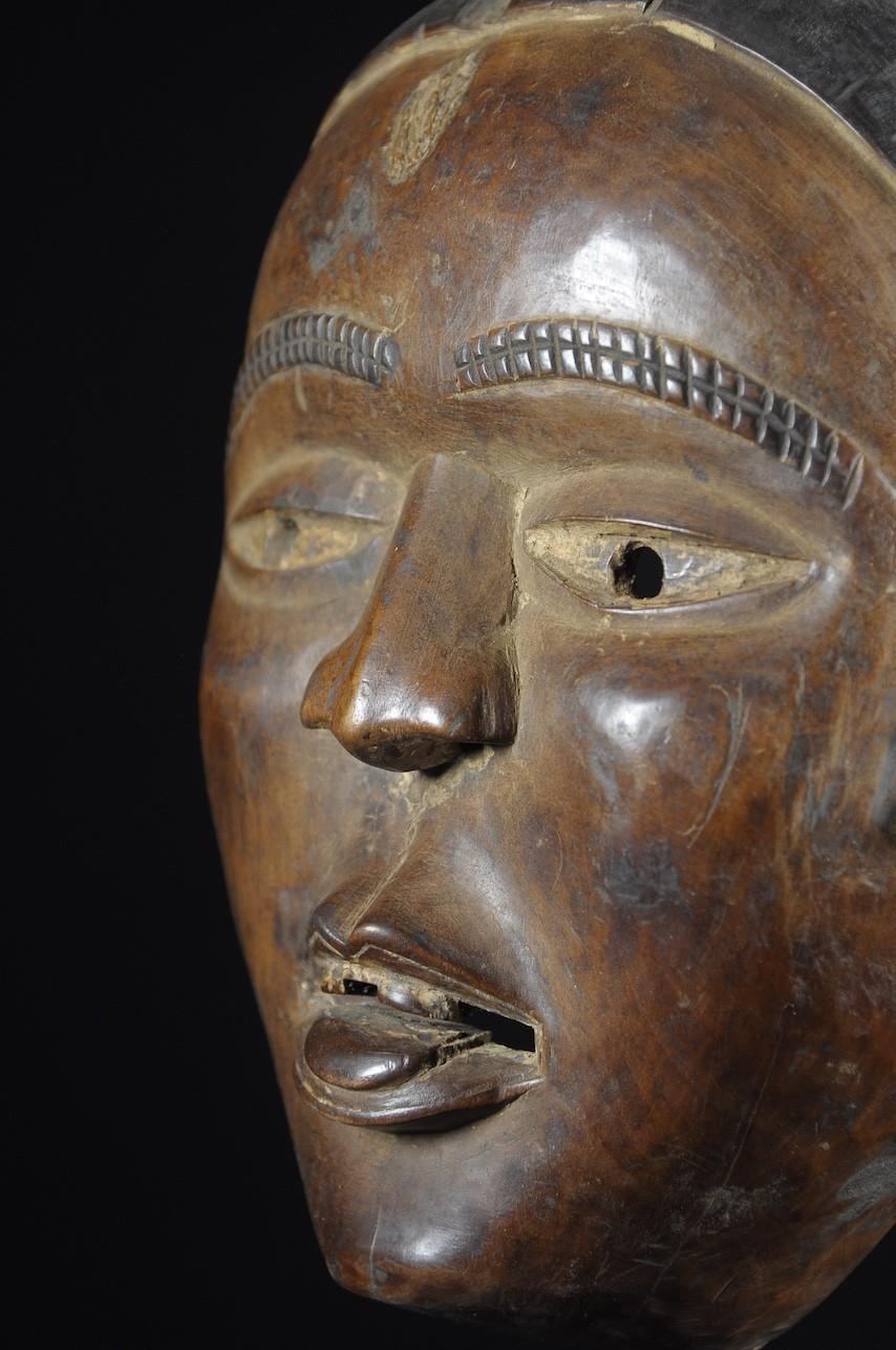 Masque portrait ancien - Kongo Yombe - RDC Zaire