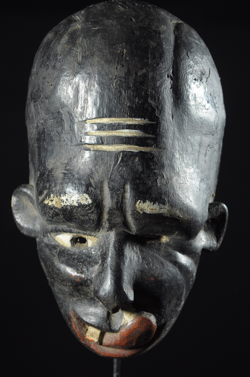 Masque ancien de maladie Clown - Ibo / Igbo - Nigeria - Maladies