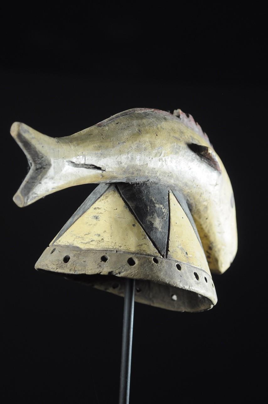 Masque poisson polychrome - Mossi / Gurunsi - Burkina Faso